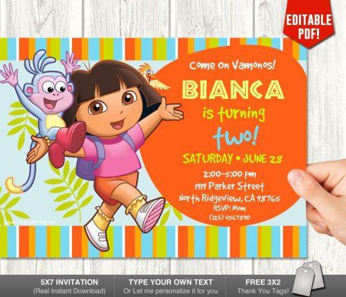 Dora Invitation One