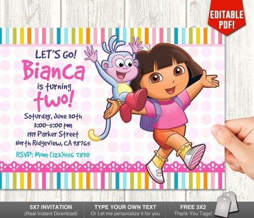 Dora Invitation Two
