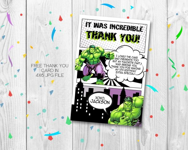 Hulk Smash Thank You Card