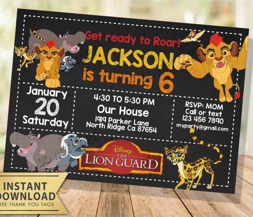 Lion Guard Invitation
