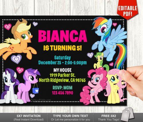 My Little Pony Invitation