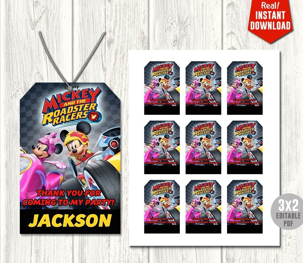 Mickey Mouse Roadster Racer Invitation My Party Templates