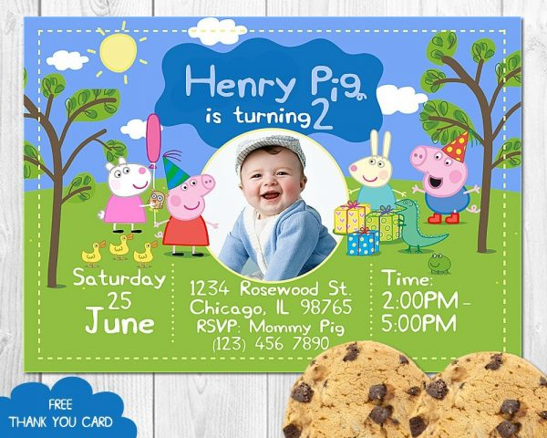 Peppa Pig Invitation for Boys