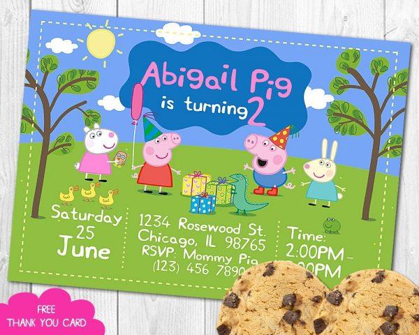 Peppa Pig Invitation
