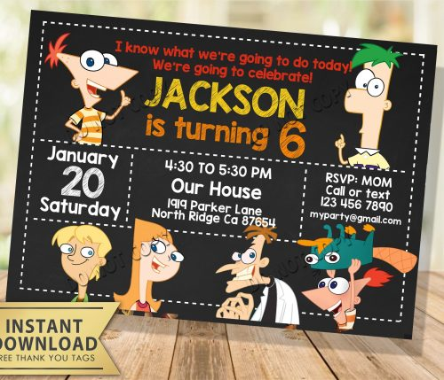 Phineas and Ferb Invitation