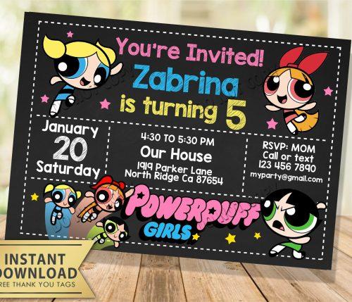 Powerpuff Girls Invitation