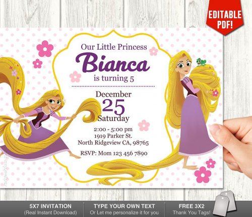 Rapunzel Invitation