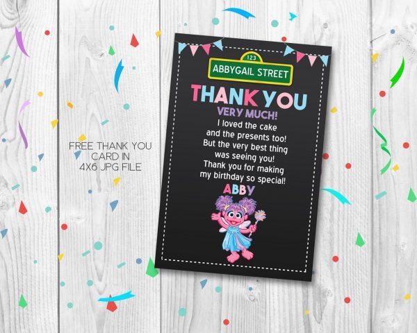 Abby Cadabby Thank You Card