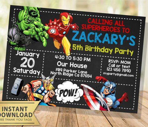 Avengers Invitation