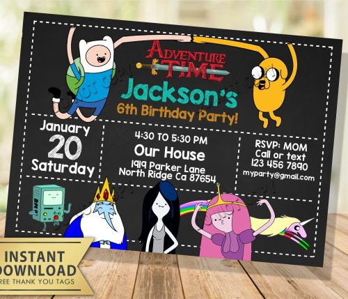 Adventure Time Invitation