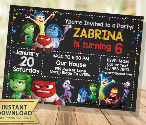 Inside Out Invitation