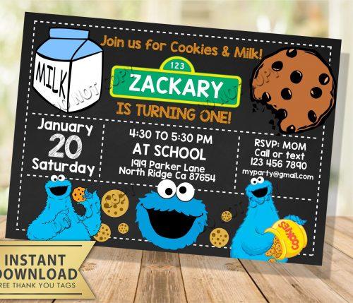 cookie monster invitation