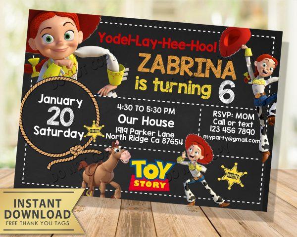 jessie toy story invitation