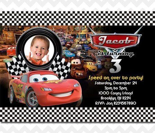 Disney Cars McQueen Invitation