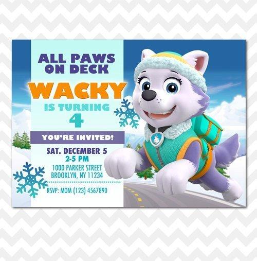 Paw Patrol Everest Invitation