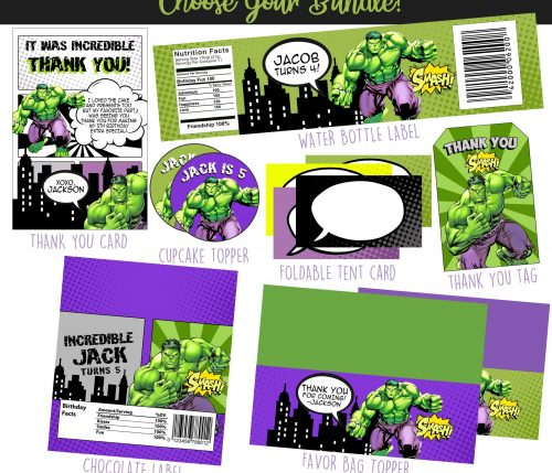Hulk Party Printables