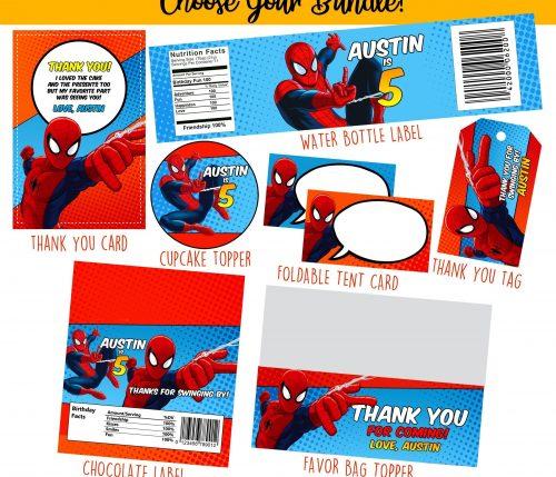 Spiderman Party Printables