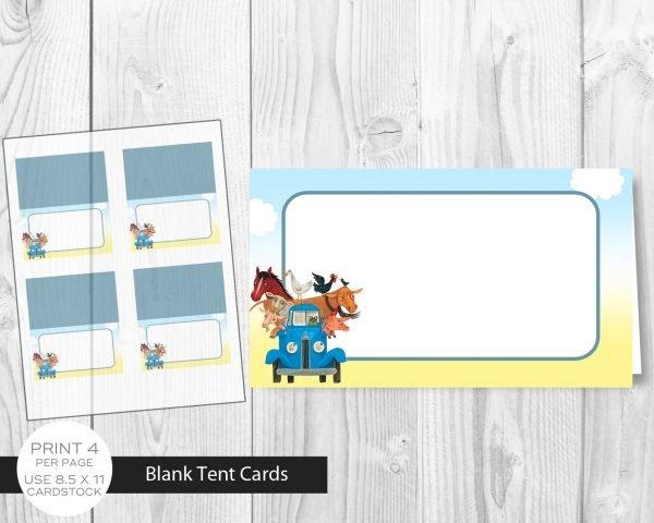 Little Blue Truck Tent Card