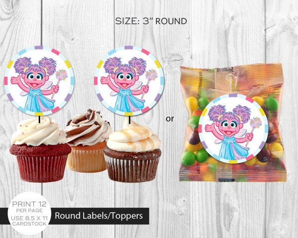 Abby Cadabby Cupcake Toppers
