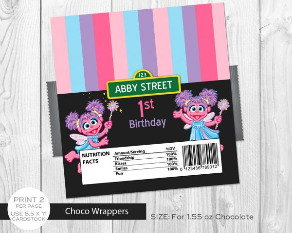 Abby Cadabby Chocolate Labels