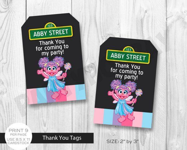 Abby Cadabby Thank You Tags