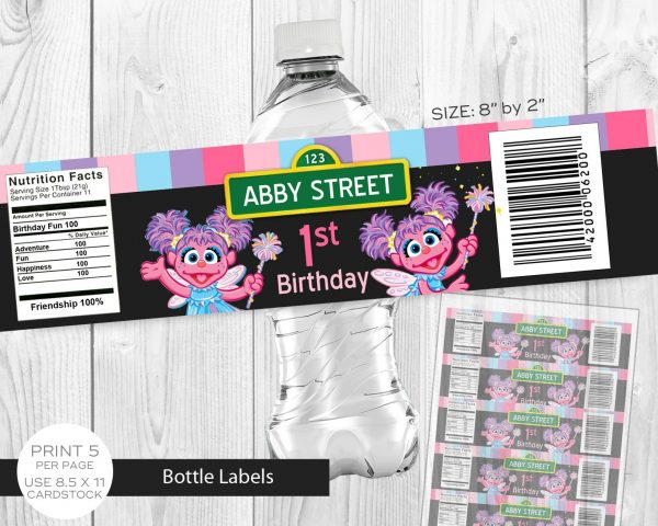 Abby Cadabby Water Labels