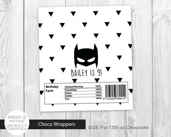 Batman Minimalist Chocolate Label