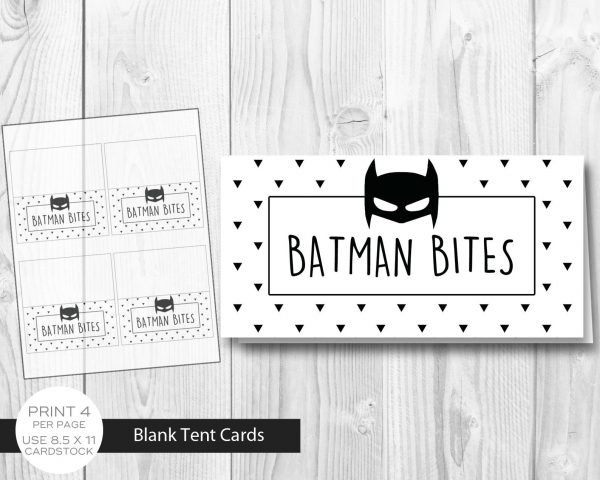 Batman Minimalist Tent Cards