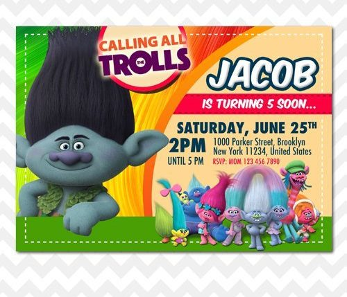 Trolls Branch Invitation