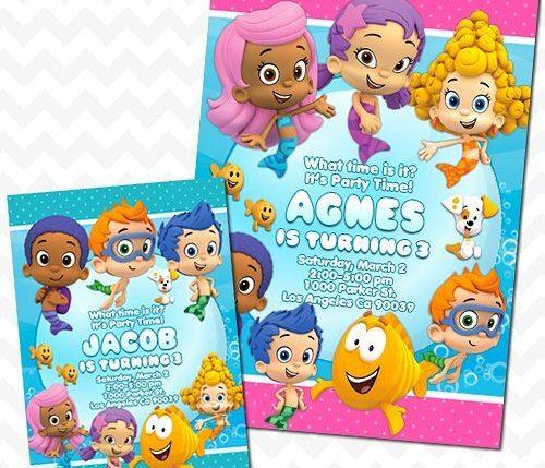 Bubble Guppies Invitation