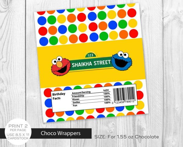 Sesame Street Chocolate Wrapper