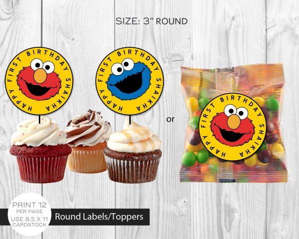 Sesame Street Cupcake Topper