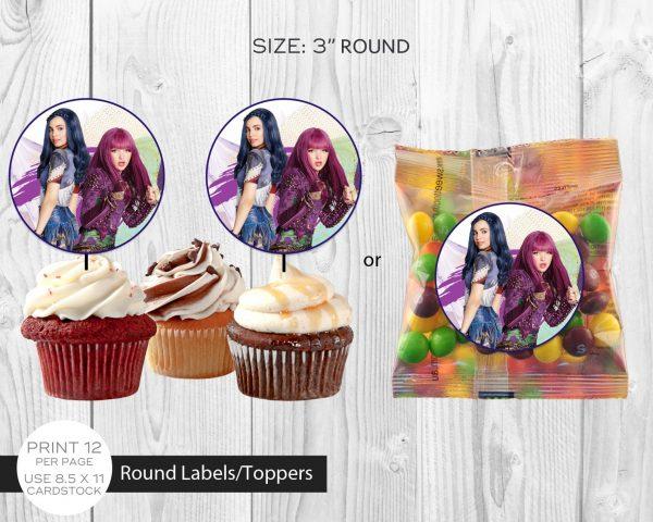 Descendants 2 Cupcake Topper