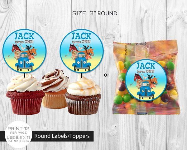 Little Blue Truck Cupcake Toppers