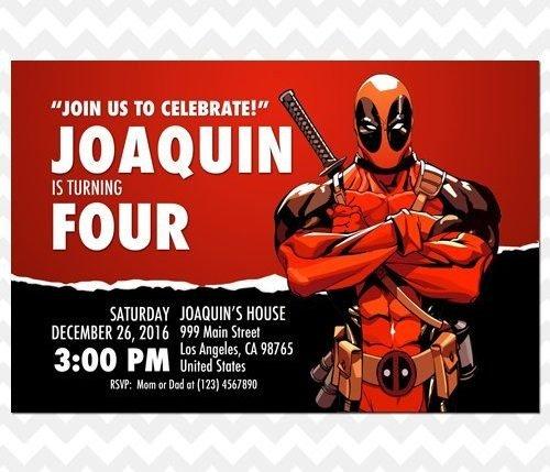 Deadpool Invitation