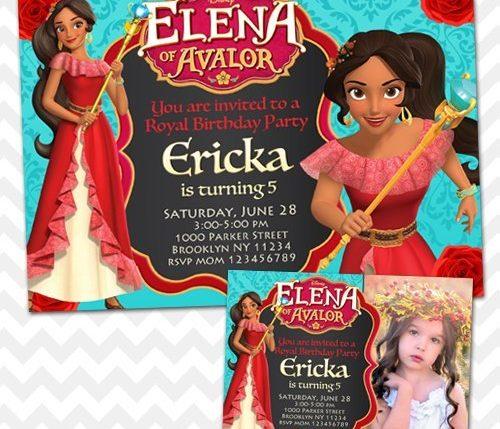 Elena of Avalor Invitation