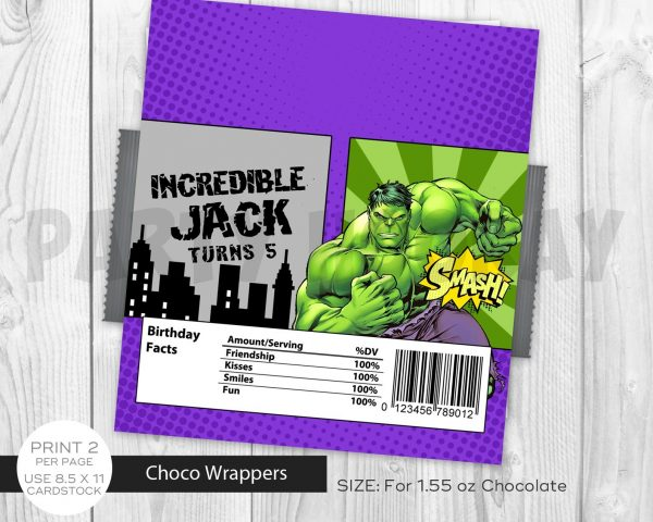 Hulk Chocolate Label