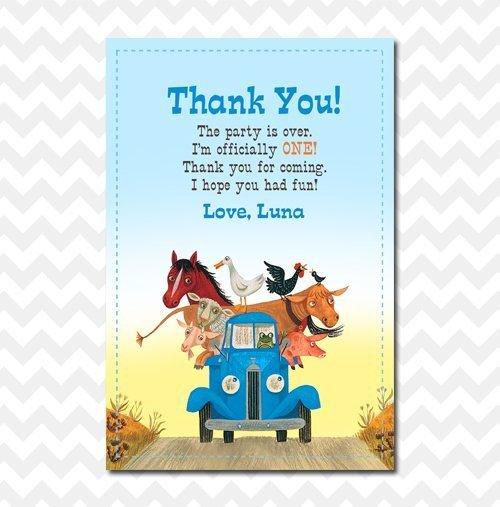 Little Blue Truck Thank You Card