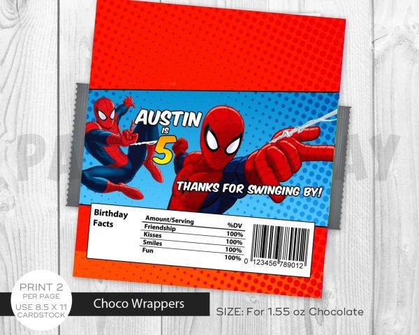 Spiderman Chocolate Labels