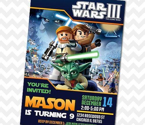 Star Wars Clone Wars Invitation