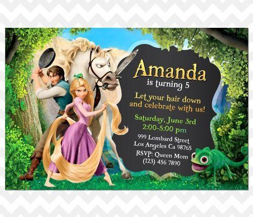 Rapunzel Tangled Invitation