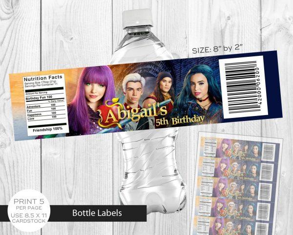 Descendants 2 Water Bottle Label