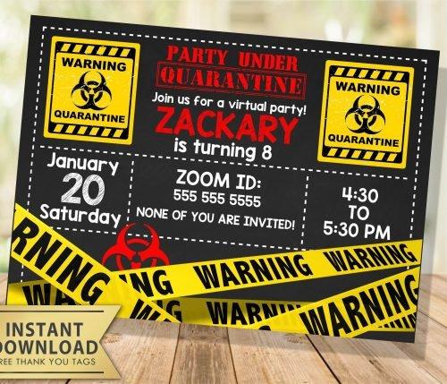 Quarantine Birthday Invitation