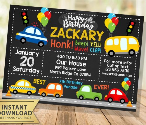 Drive by Birthday Invitation