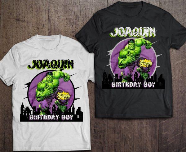 Custom Hulk Birthday Shirt
