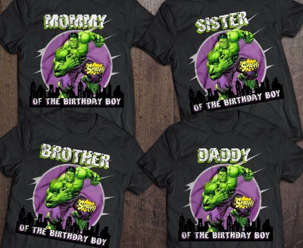 Custom Hulk Family T-Shirt