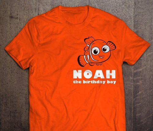 Custom Finding Nemo Birthday Shirt