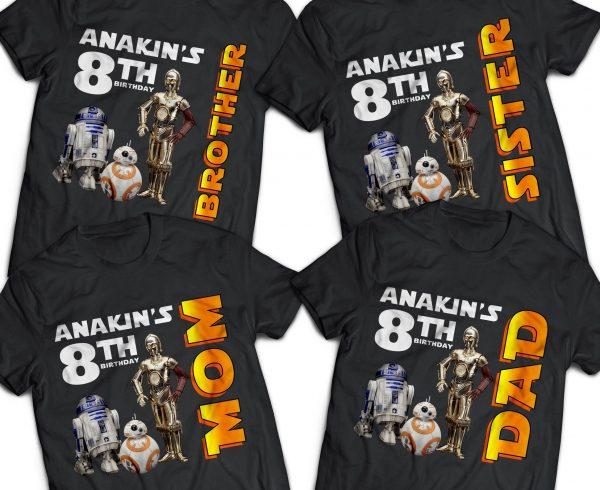 Star Wars Robots Shirt Custom
